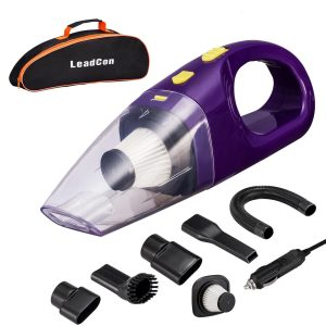 High Power LeadCon DC 12v Portable Handheld Car Vacuum