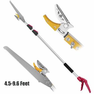 Belpink Long Tree 4.5-9.6 Feet Pruner with Pole Saw