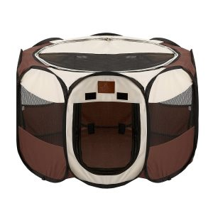 Parkland Pet Foldable Portable Playpen Exercise Kennel for Dogs