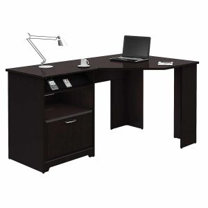 Bush Furniture Cabot Espresso Oak Corner Desk