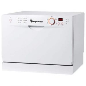 Magic Chef MCSCD6W3 White Dishwasher