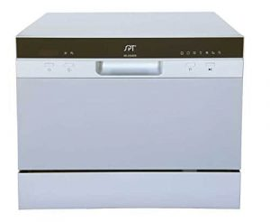 SPT SD-2224DS Silver Countertop Dishwasher