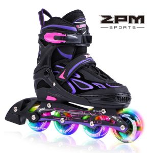 2pm Sports Vinal Girls Roller Adjustable Flashing Inline Skates