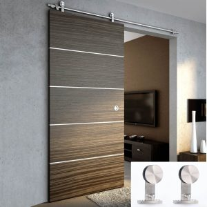 TCBunny Stainless Steel Sliding Door Hardware Track Set