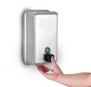 Alpine Manual Surface Stainless Steel Mounted Liquid Soap Dispenser