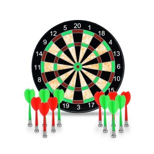 LoveisCool 17-Inch Magnetic Dart Board
