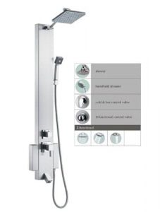 "Spas Outlets Blue Ocean 48"" SP822322 Shower Panel Tower"