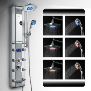 AKDY 5333D LED Aluminum Shower Panel