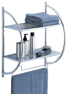 Organize It All Wall Mount 2 Tier Chrome Bathroom Shelf