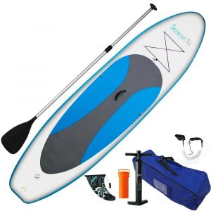 SereneLife Universal SUP Wide Stance Inflatable Stand Up Paddle Board