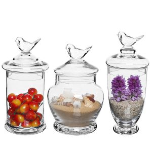 Mygift Clear Glass Apothecary