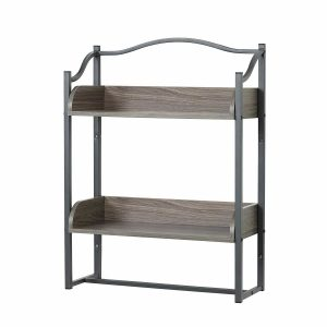 Zenna Home Metal Bathroom Wall Shelf - 8712GY