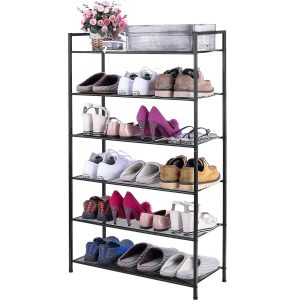 3s 6 Tier Adjustable Shoe Rack, Bronze