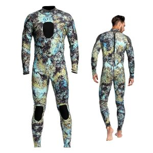 Dyung Tec-Wetsuits Mens Diving 3MM Camo Neoprene Scuba Full Suit