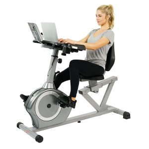 Sunny Health & Fitness SF-RBD4703 Magnetic Recumbent Desk Exercise Bike