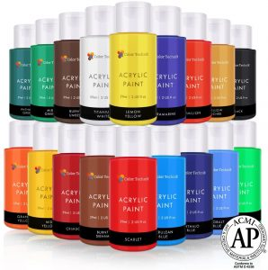 Color Technik- Acrylic Paint Set Best Colors For Painting Canvas