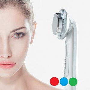 Rika LED facial massager. 3 color Photo LED light therapy