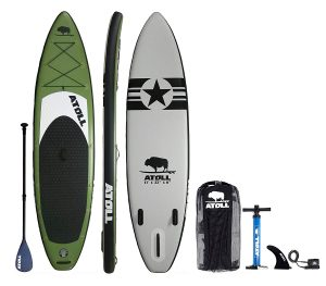 Atoll Paddle 11- Foot Inflatable Stand Up Paddle Board