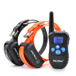 Petrainer Rechargeable and 100% Waterproof Shock Collar Dog Training Collar