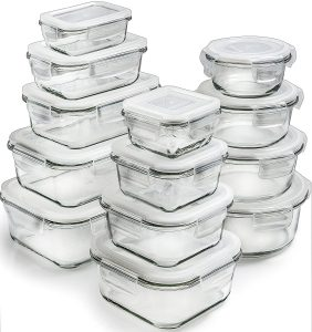 Prep Naturals Glass Storage Containers