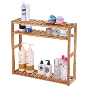 SONGMICS Adjustable Bathroom Slim Shelf