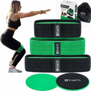 Cacti Performance Fabric Non-Slip Resistance Bands Exercise Set