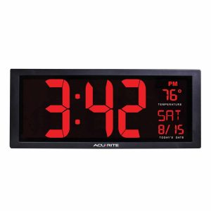 AcuRite 75127 LED Clock with Indoor Temperature