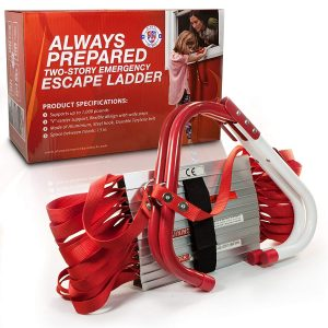Always Prepared Premium Emergency Fire Escape Ladder Two-Story