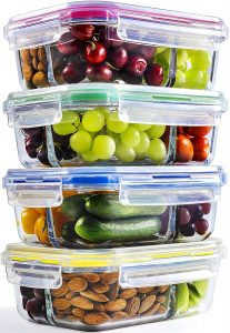 Chef Fresh Packs Glass Meal Prep Containers
