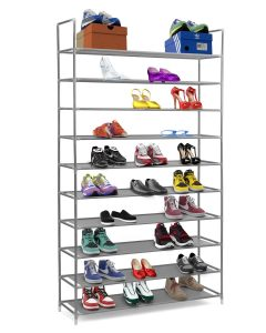 Halter 10 Tier Shoe Rack with Shelves