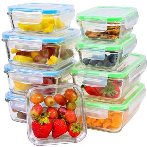 Elacra Glass Food Storage Containers