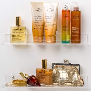 Pretty Display Acrylic Bathroom Shelves
