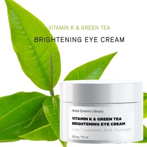 HD Beauty Vitamin K and Green Tea Eye Cream, Brightening Serum