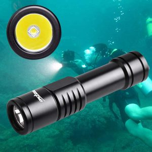 ORCATORCH D520 Diving Flashlight Scuba diving Backup light