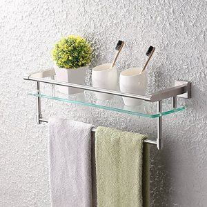 KES Bathroom Glass Shelf Wall Mount