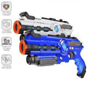 Amarey Infrared Laser Tag - 2-Pack Infrared Battle Shooting Games Lazer Tag Blasters