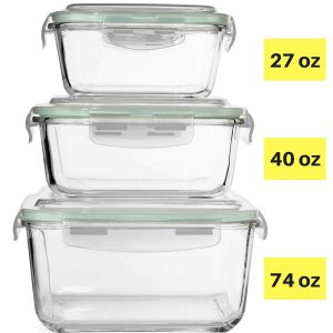 Razab HomeGoods Extra Large Glass Food Storage Containers