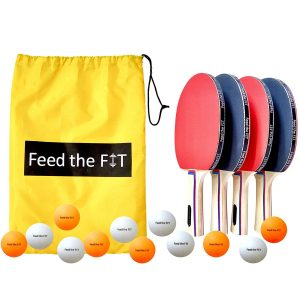 Feed the Fit Ping Pong Paddle Set