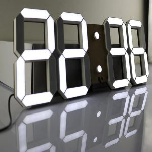 Pinty Multi-Functional Remote Controlled Digital Wall Clock, with Large LED