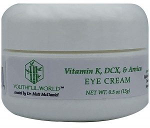 YOUTHFUL.WORLD Eye Cream with Arnica, Vitamin K, And DCX