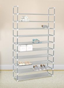 eHomeProducts- Grey 10 Tiers Shoe Rack