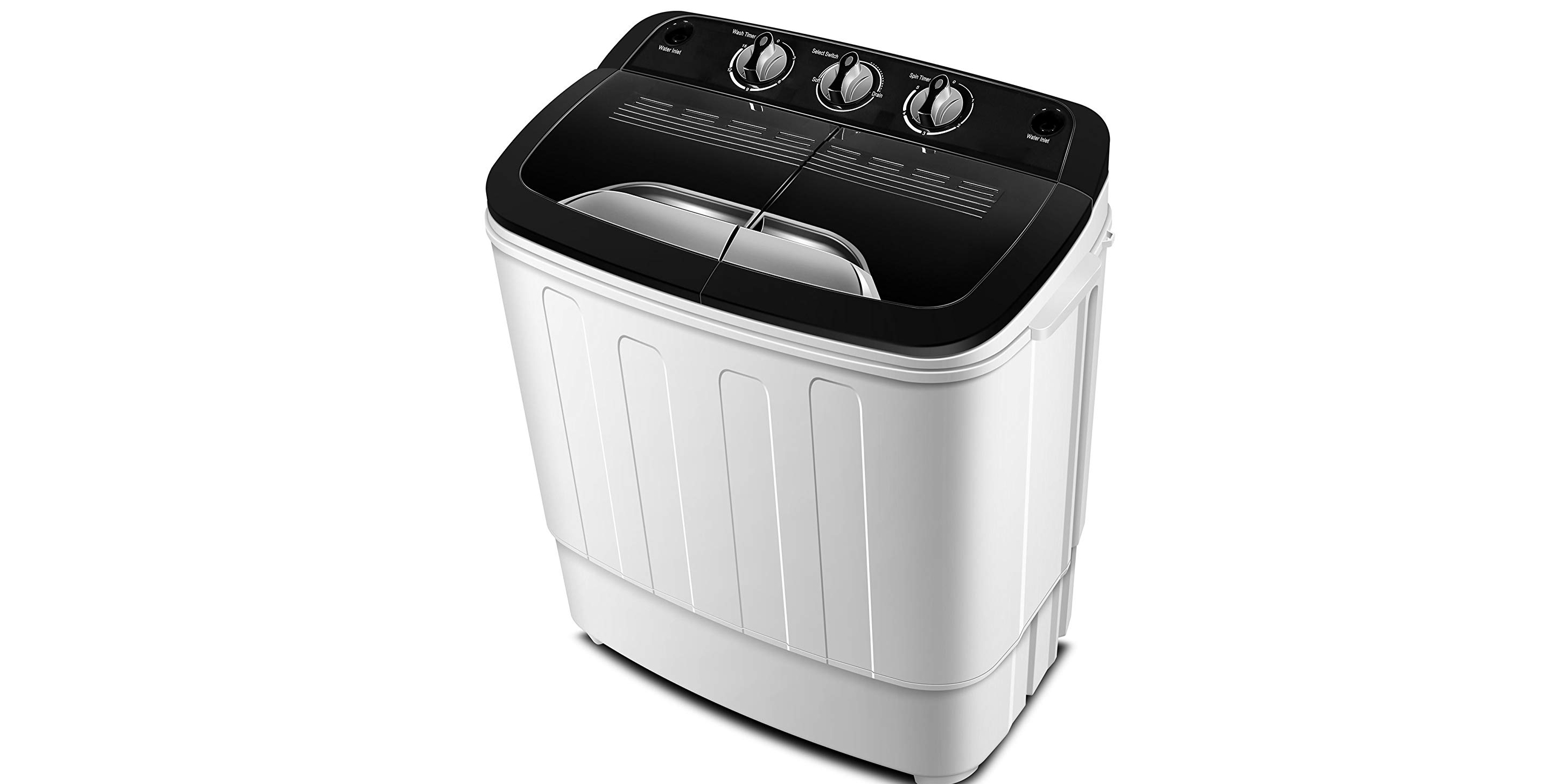 SUPER DEAL Portable Washing Machine Twin Tub 10lbs Capacity with Spin Cycle Dryer Dorm Rooms Lightweight for Apartments