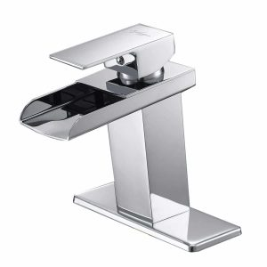BWE Chrome Waterfall Lavatory, Bathroom Faucet