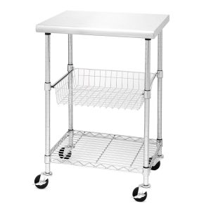 Seville Classics Professional Stainless Steel Kitchen Cart