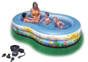 Intex Swim Paradise Center Inflatable Pool with Pump Included