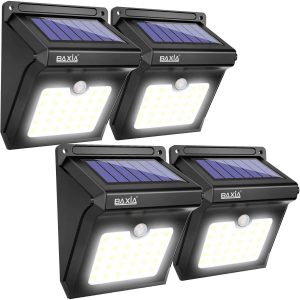 BAXIA TECHNOLOGY Outdoor Solar Security Lights