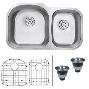 Ruvati 34-inch Undermount Double Bowl Kitchen Sink - RVM4600