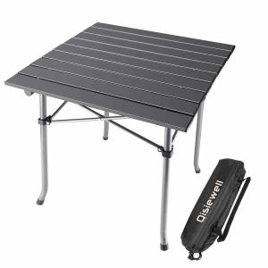 Qisiwell Light weight Camping Table Aluminum Outdoor Folding