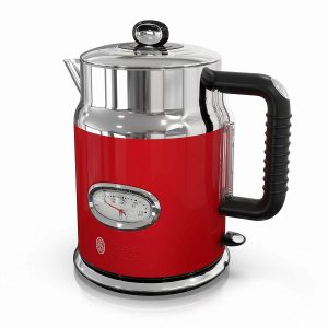 Russell Hobbs Retro Style Red Stainless Steel Electric Kettle