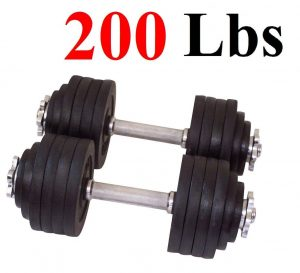 Unipack One Pair of Adjustable 100lbs X 2pc Dumbbells Kits
